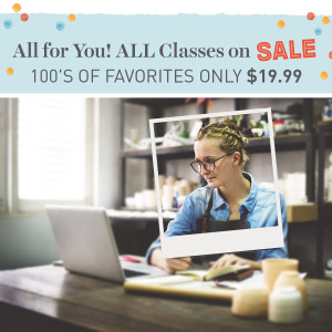 Craftsy sale classes $19.99